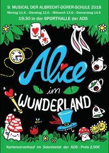9. MUSICAL DER ALBRECHT-DÜRER-SCHULE 2018: Alice im Wunderland